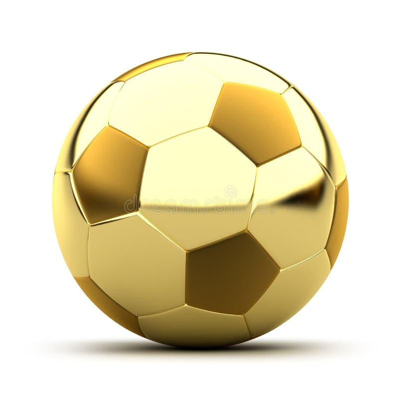 Balón de fútbol de oro stock de ilustración