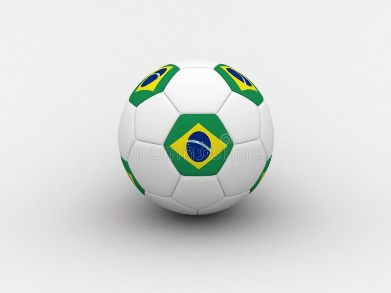 Balón de fútbol del Brasil stock de ilustración