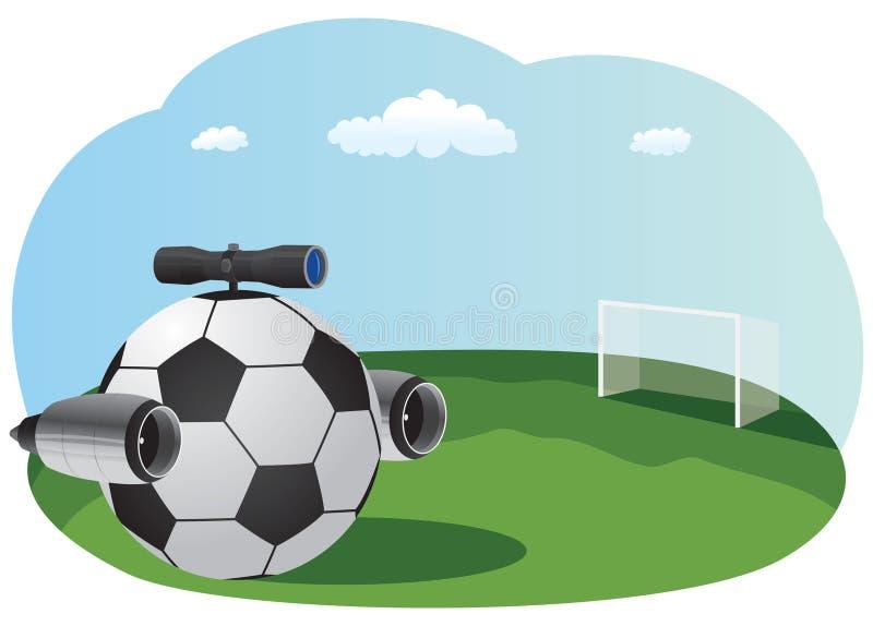 Balón de fútbol del jet stock de ilustración