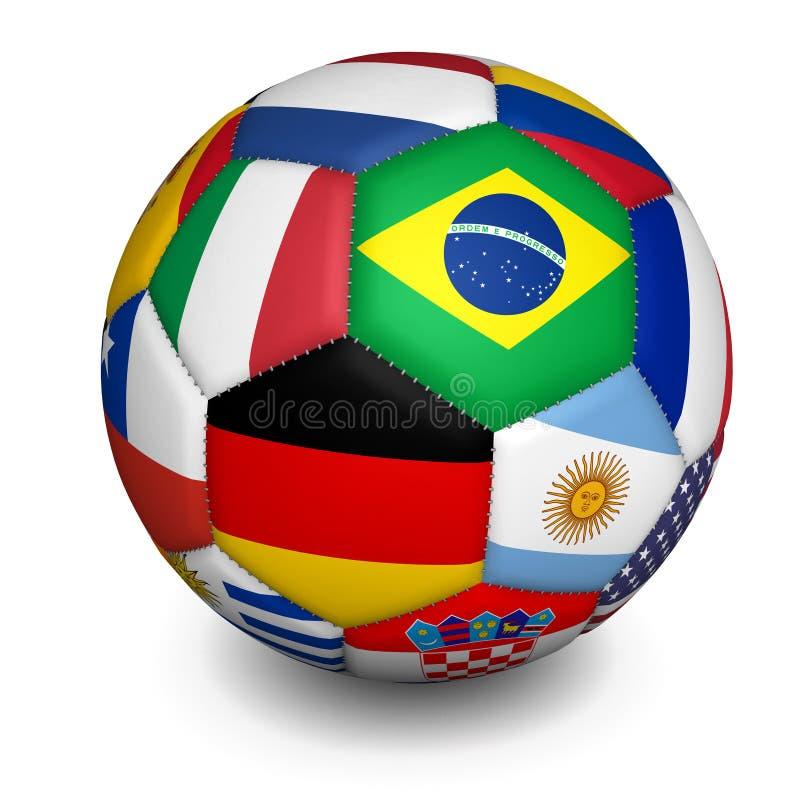 Balón de fútbol del mundial del fútbol ilustración del vector