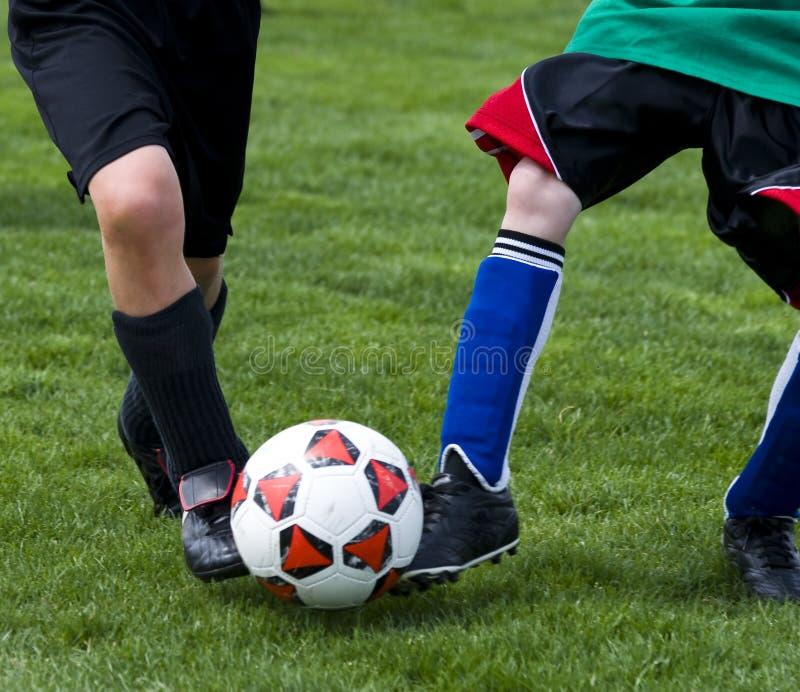 Balón de fútbol del retroceso fotos de archivo libres de regalías