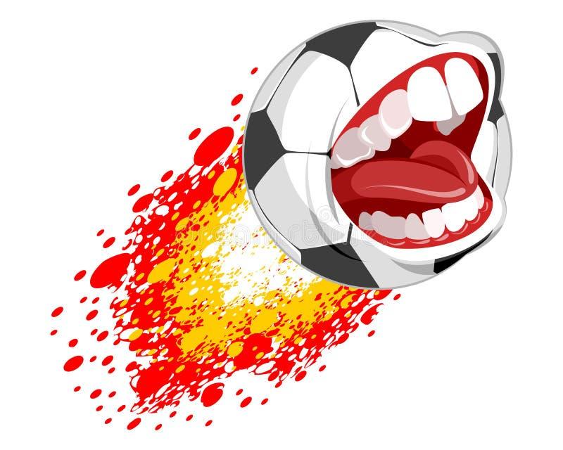 Balón de fútbol del vuelo ilustración del vector