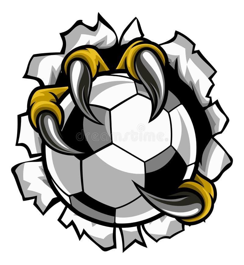 Balón de fútbol Eagle Claw Talons Tearing Background stock de ilustración