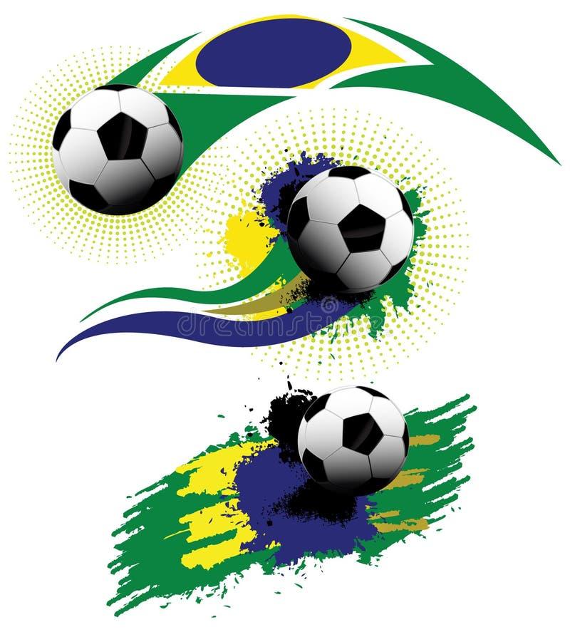 Balón de fútbol el Brasil ilustración del vector