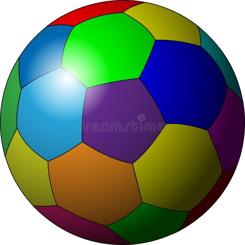 Balón de fútbol en color ilustración del vector. Ilustración de ...