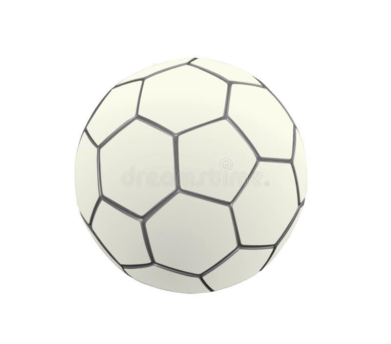 Balón De Fútbol En El Color Blanco Stock de ilustración ...