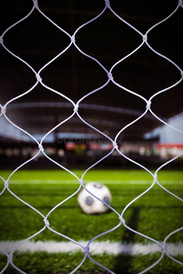Balón de fútbol en el estadio 3 fotografía de archivo