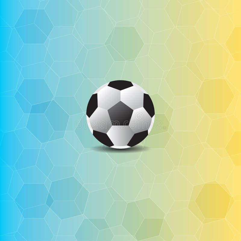 Balón de fútbol en fondo del polígono stock de ilustración