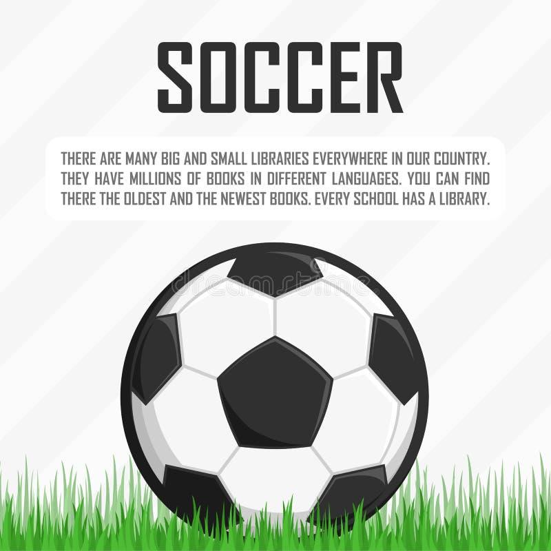 Balón de fútbol en la hierba stock de ilustración