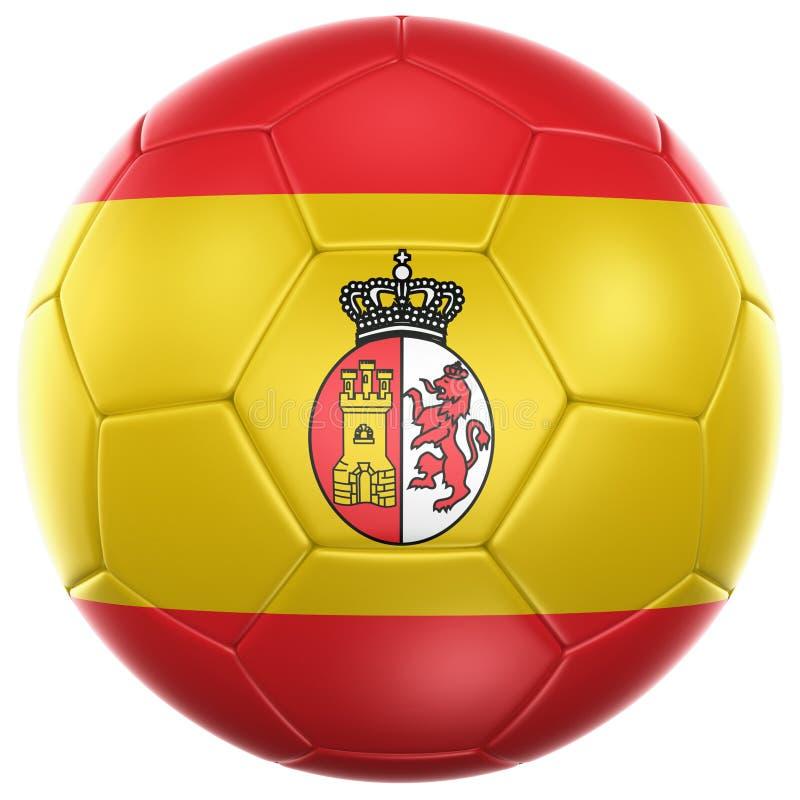 Balón de fútbol español stock de ilustración