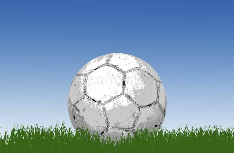 Balón de fútbol/fútbol en hierba foto de archivo libre de regalías