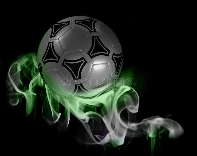 Balón de fútbol fantástico imagen de archivo libre de regalías