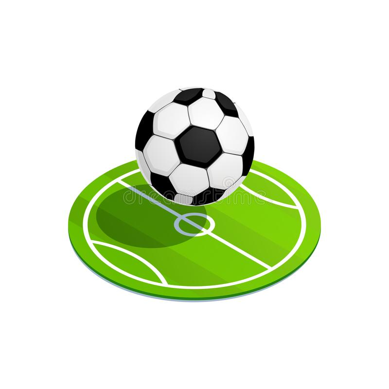 Balón de fútbol isométrico stock de ilustración