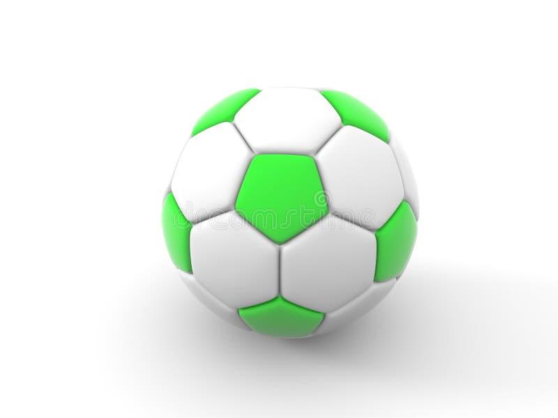 Balón de fútbol Objeto aislado en el fondo blanco 3d rinden stock de ilustración