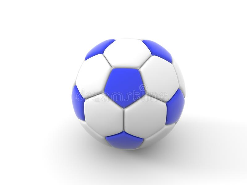 Balón de fútbol Objeto aislado en el fondo blanco 3d rinden libre illustration