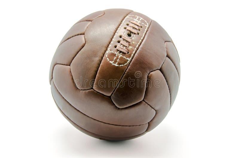 Balón de fútbol retro foto de archivo