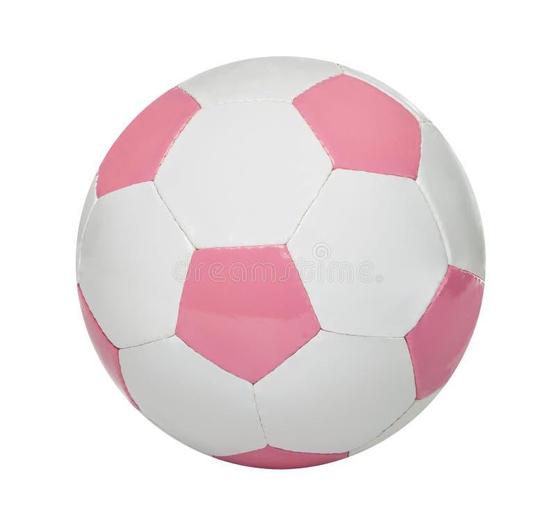 Balón de fútbol rosado fotografía de archivo