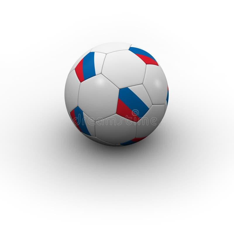 Balón de fútbol ruso stock de ilustración