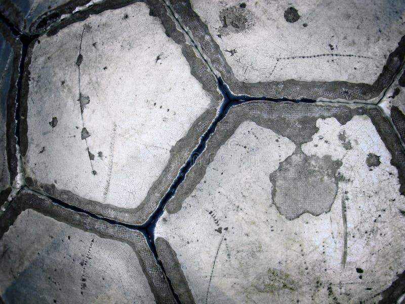 Balón de fútbol usado fotografía de archivo