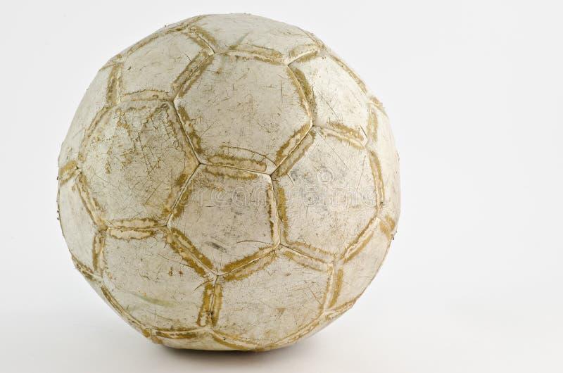 Balón de fútbol viejo foto de archivo libre de regalías