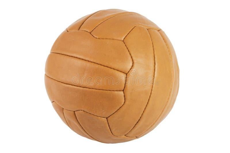 Balón de fútbol viejo imagen de archivo libre de regalías