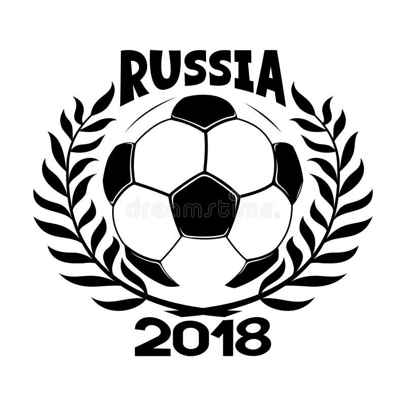 Balón de fútbol y guirnalda del laurel libre illustration