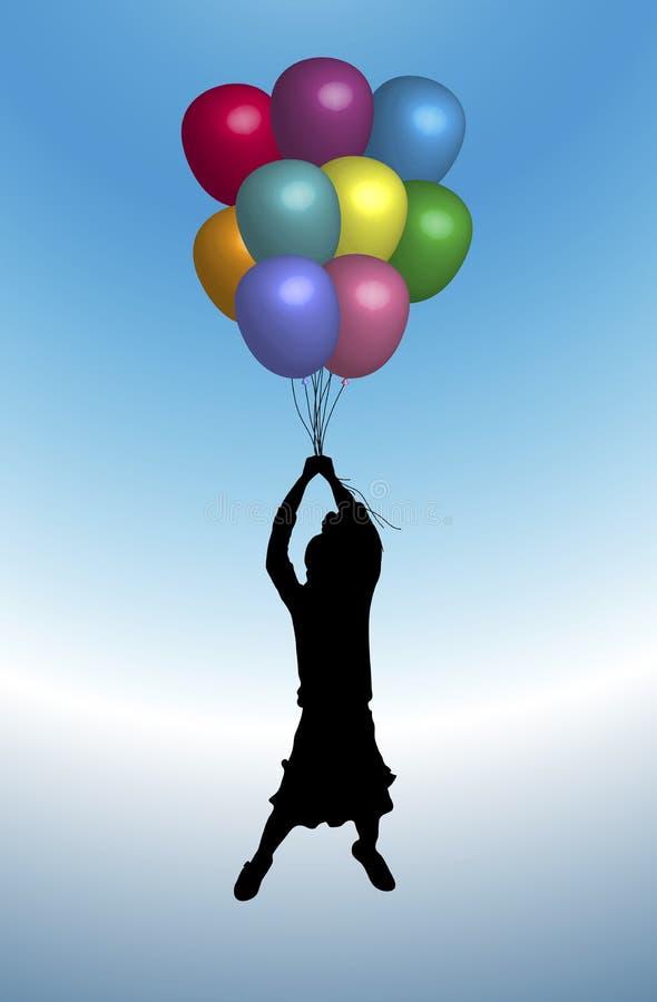 Balões 2 ilustração royalty free