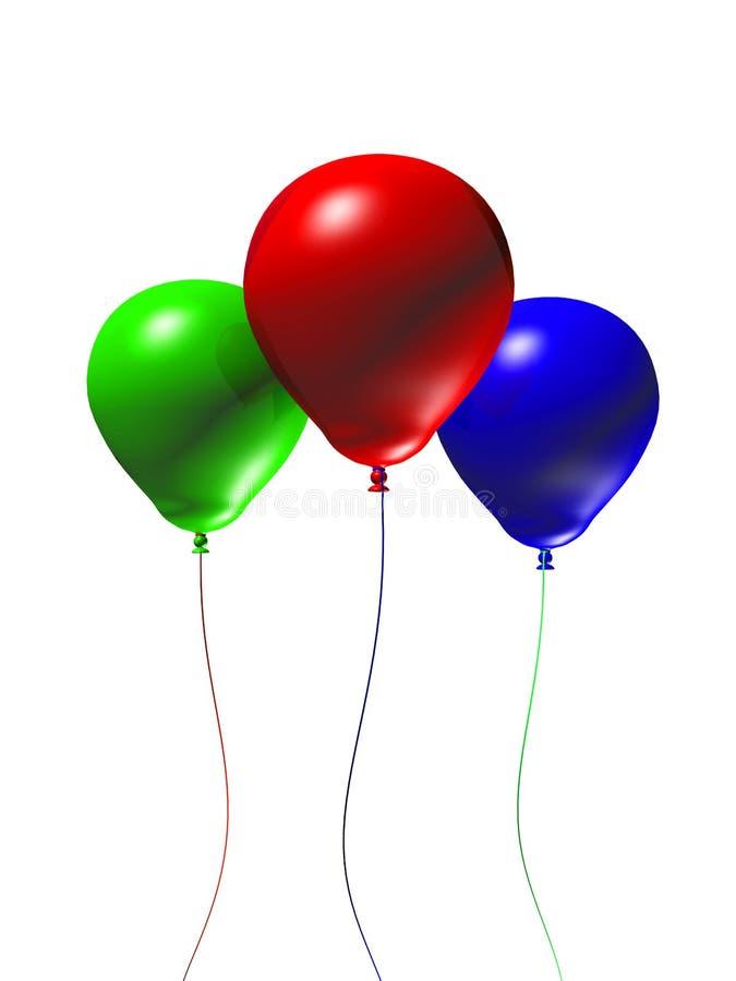 balões 3d ilustração stock