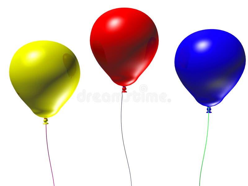balões 3d ilustração do vetor