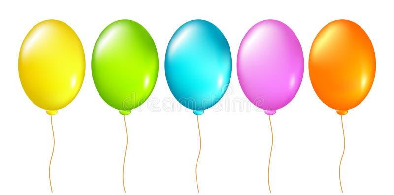 Download Balões ajustados ilustração do vetor. Ilustração de helium - 12805894