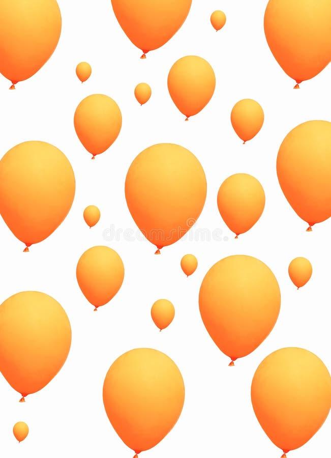 Download Balões Alaranjados No Fundo Branco Imagem de Stock - Imagem de engraçado, fita: 16872067