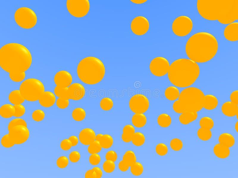 Balões amarelos ilustração do vetor