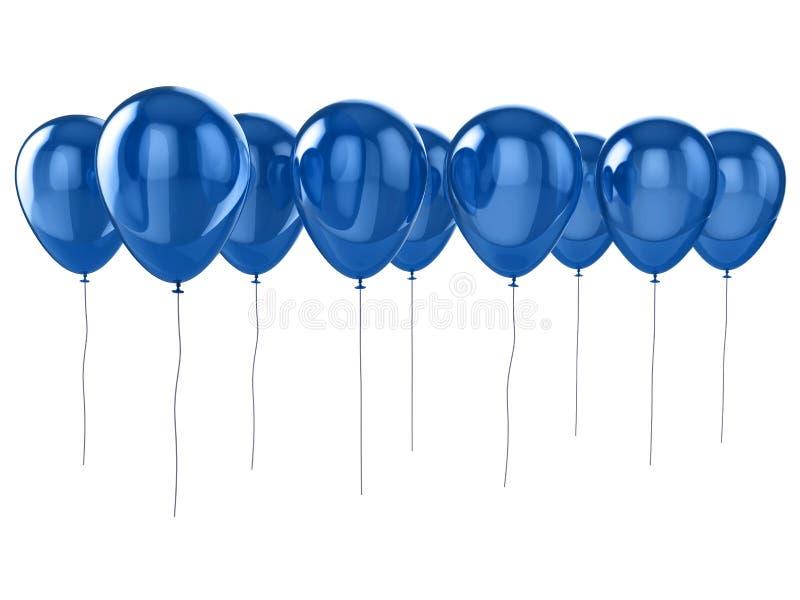 Balões azuis brilhantes ilustração stock
