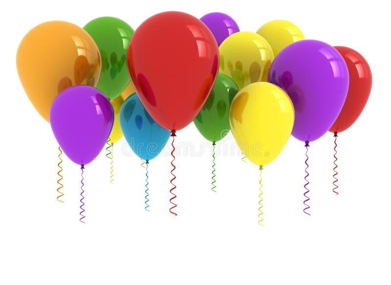 Balões bonitos do partido ilustração stock