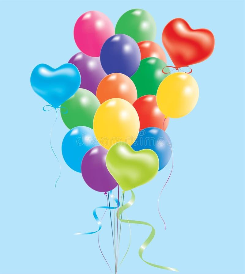 Balões coloridos ilustração do vetor