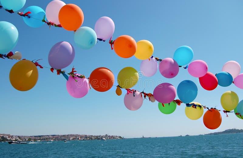 Balões coloridos fotos de stock royalty free