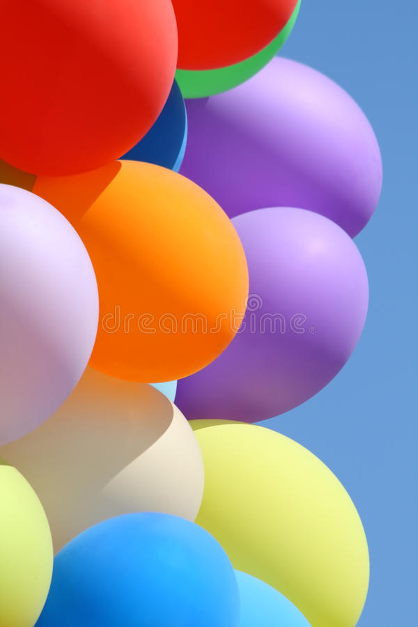 Balões coloridos foto de stock royalty free