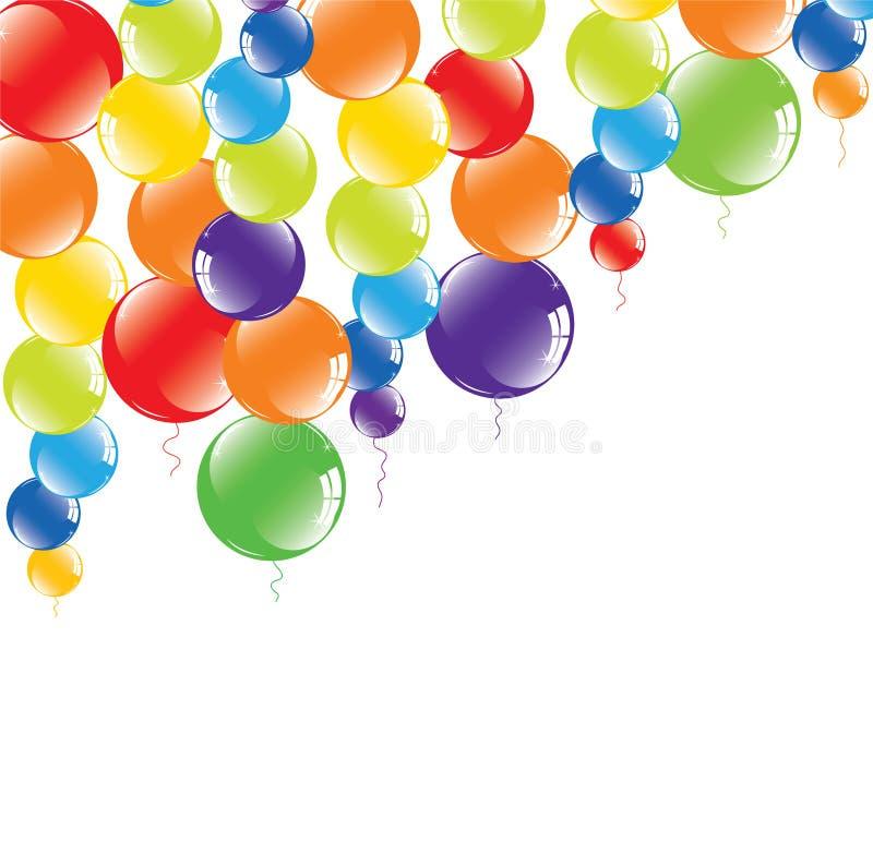 Balões coloridos festivos ilustração royalty free