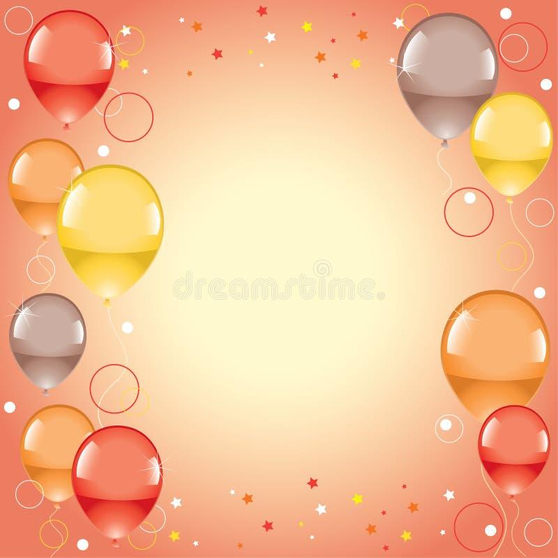 Balões coloridos festivos ilustração stock