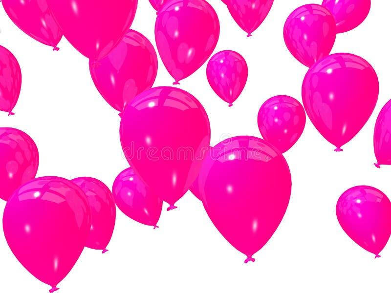 Balões cor-de-rosa ilustração royalty free