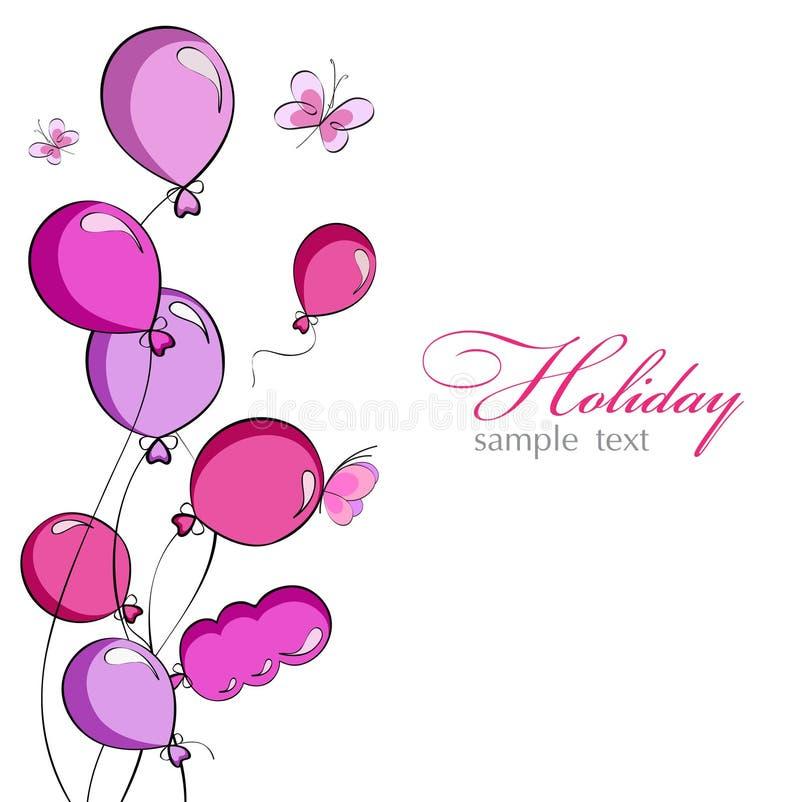 Download Balões cor-de-rosa ilustração do vetor. Ilustração de feixe - 26507668