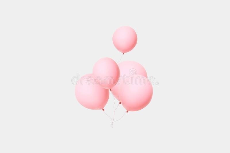Balões cor-de-rosa fotos de stock