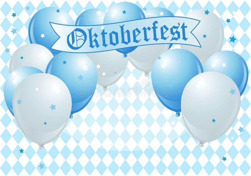 Balões da celebração de Oktoberfest ilustração royalty free