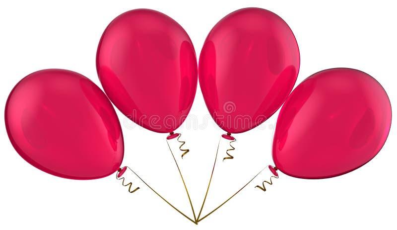 Balões da celebração do amor ilustração stock