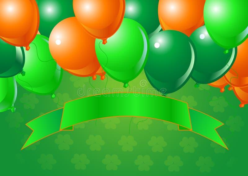 Balões da celebração do dia do St. Patrick ilustração do vetor