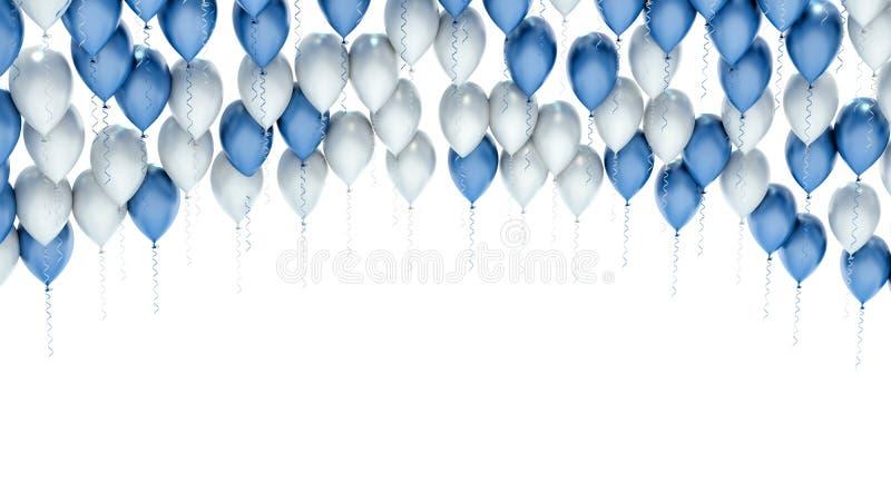 Balões da celebração do partido isolados no branco ilustração do vetor