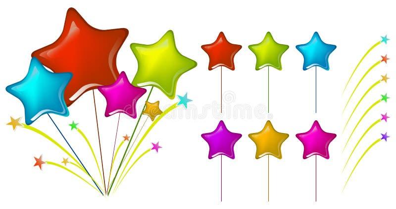 Balões da estrela ilustração do vetor