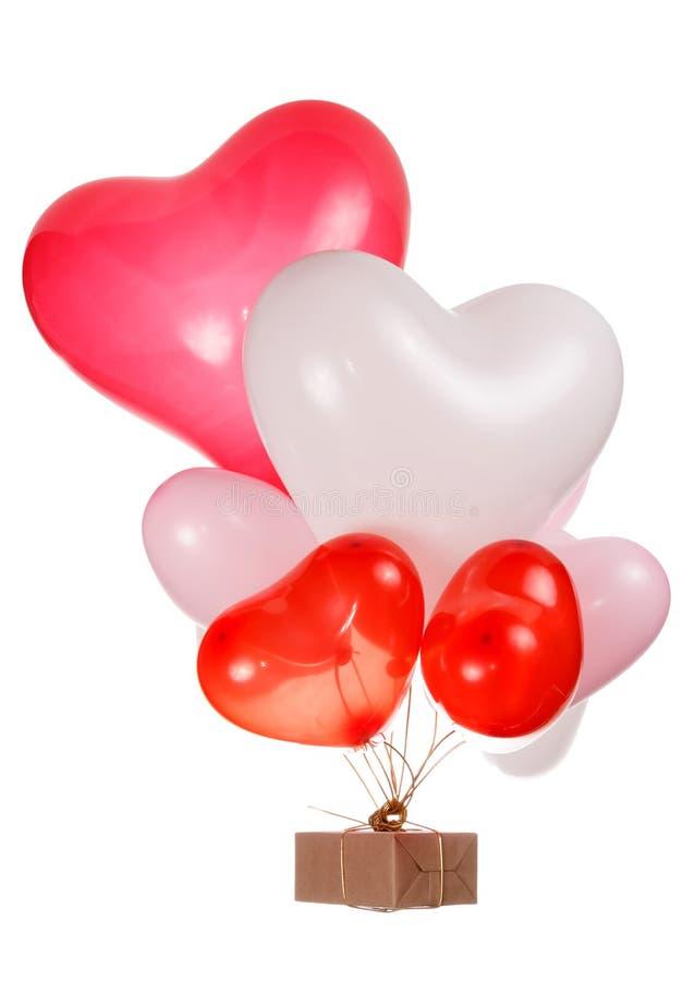 Balões dados forma coração foto de stock royalty free