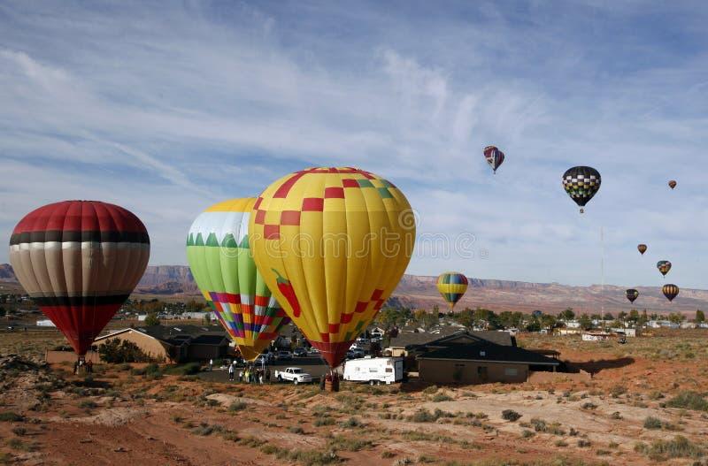 Balões de ar do Arizona imagens de stock