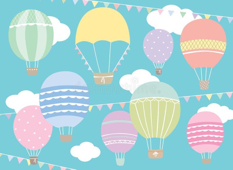 Balões de ar quente ilustração royalty free
